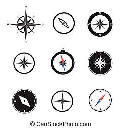 jogo, ilustração, compasso