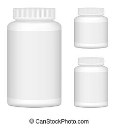 jogo, ilustração, plástico, embalagem, vetorial, garrafa, em branco, branca, design., 1.