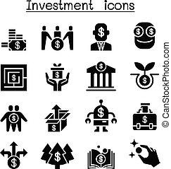 jogo, investimento, negócio, ícone