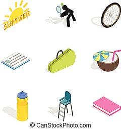 jogo, isometric, stripling, estilo, ícones