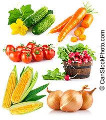 jogo, legumes frescos