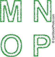 jogo, letras, m, -, fonte, p, este prego, verde, n, capim