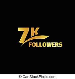 jogo, letras, ouro, número, números, logotipo, desenho, set., aniversário, estrito, seguidores, online, ilustração, subscribers, comunidades, redes, collection., grande, vetorial, social, elegante, meu