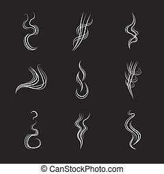 jogo, linhas, experiência., vetorial, fumaça preta, branca