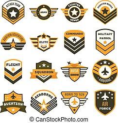 jogo, logotipo, estilo, airforce, apartamento