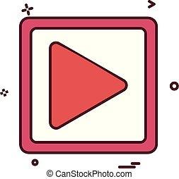 jogo, mídia, vetorial, música, desenho, ícone