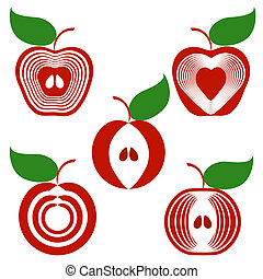 jogo, maçãs