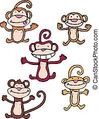 jogo, macaco