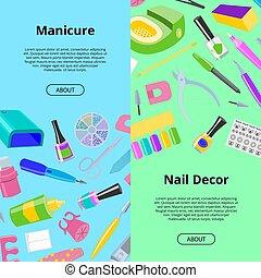 jogo, manicuring, nail-file, pedicure, padrão, manicured, mãos, nail-bar, seamless, ilustração, acessório, manicurist, vetorial, manicure, fundo, polaco, tesouras, unhas, ferramentas, ou, fundo