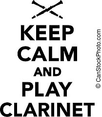 jogo, mantenha, clarinete, pacata