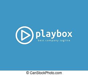 jogo, marcar, botão, logotype, abstratos, vetorial, modelo, ...