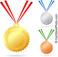 jogo, medalhas