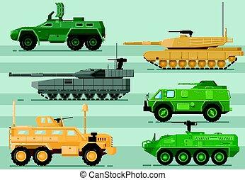 jogo, modernos, isolado, vetorial, technics, militar