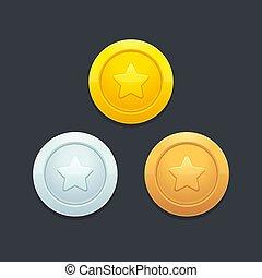 jogo, moedas, vídeo