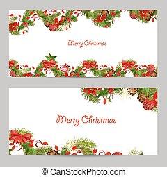 jogo, Natal, desenho, convite, Cartões, seu
