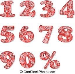 jogo, natal, números