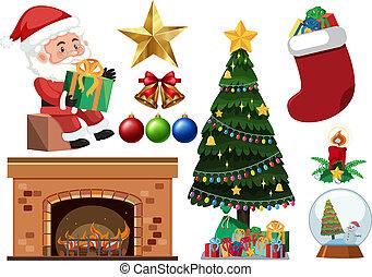 jogo, natal, objetos