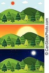 jogo, natural, paisagem