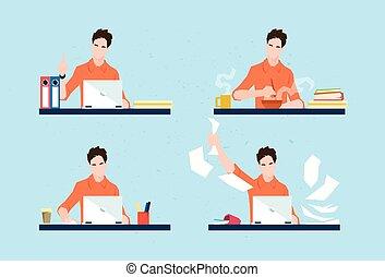 jogo, negócio, dia de trabalho, freelancer, rotina, casual,...