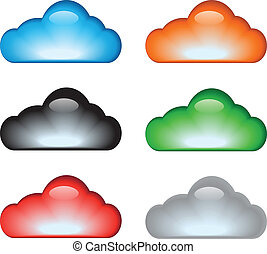 jogo, nuvem, ícone