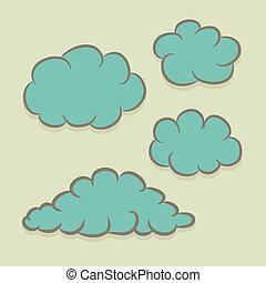 jogo, nuvens