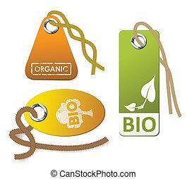 jogo, orgânica, etiquetas