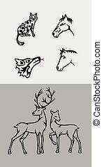jogo, ornamento, animal