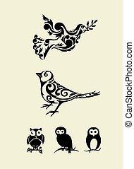 jogo, Ornamento, pássaro