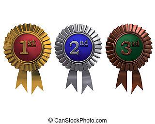 jogo, ouro, bronze, fundo, branca, prata, medalhas