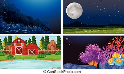 jogo, paisagem, natureza