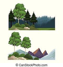 jogo, paisagens, natureza