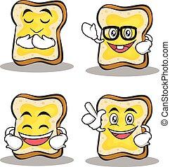 jogo, personagem, caricatura, pão