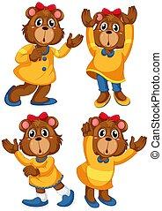 jogo, personagem, caricatura, urso