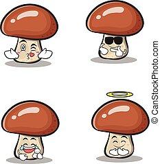 jogo, personagem, cobrança, cogumelo, caricatura