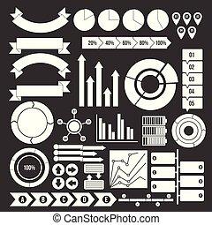 jogo, pessoas, ícones, cinzento, vetorial, vário