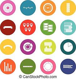 jogo, pessoas, muitos, ícones, cores, vário