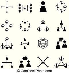jogo, pessoas, rede, ícone