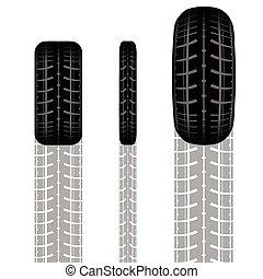 jogo, pista, pneu
