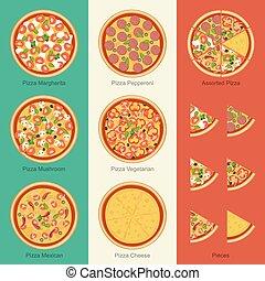 jogo, pizza