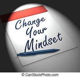jogo, positivo, positivity, mente, seu, caderno, monitores, ou, mudança