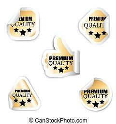 jogo, prêmio, adesivos, -, cinco, qualidade