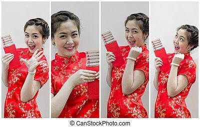 jogo, presente, chinês, chinês, monetário, pacote, year., ...