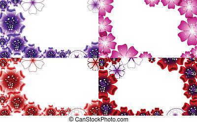 jogo, primavera, flowers., vetorial, desenho, fundo