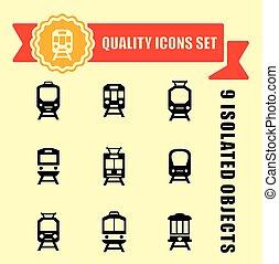 jogo, qualidade, trens, ícone