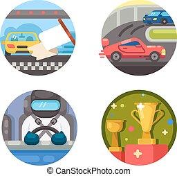 jogo, raça, ícones