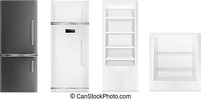 jogo, realístico, estilo, refrigerador, ícone