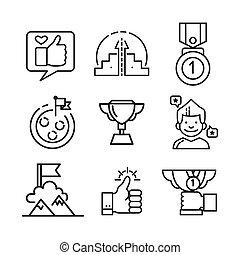 jogo, realização, ícone