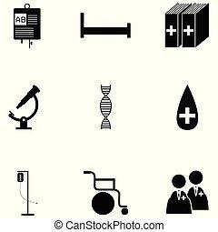 jogo, saúde, ícone