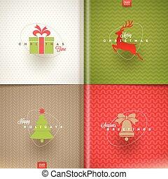 jogo, -, saudação, ilustração, vetorial, desenho, natal