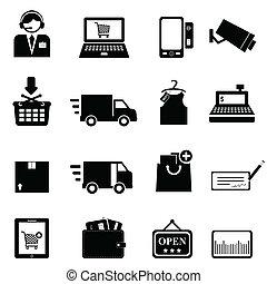 jogo, shopping, ícone